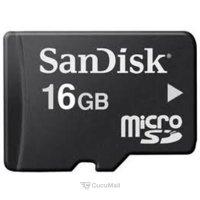 Flash memory (flash drive, memory card, SD, MiniSD, MicroSD) SanDisk microSDHC 16Gb